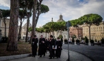 Rome, Itlay A Gaggle of Priests