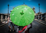 Rome, Itlay Green Umbrella