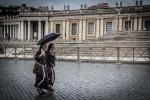 Rome Itlay Nuns in rain