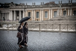Rome Itlay Nuns in rain