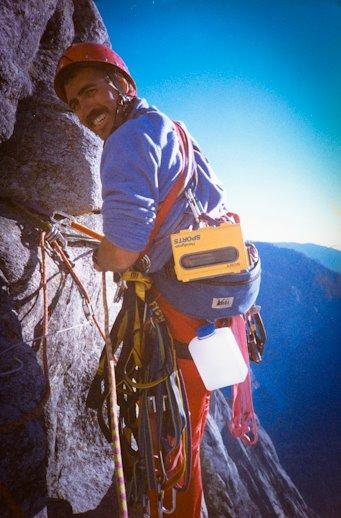 Dave climbing Half Dome